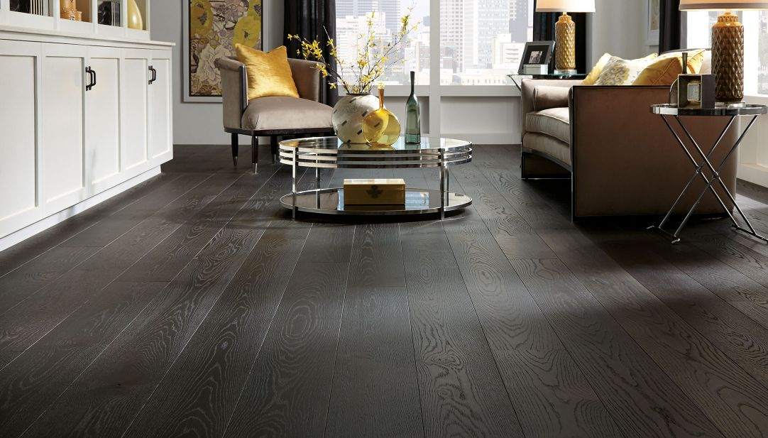 Chicago hardwood flooring company hardwood floor for Living room designs with dark hardwood floors
